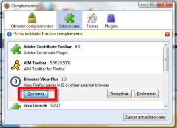 Acceder a varios navegadores desde Firefox - browser-view-plus