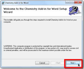 chemistry instalar word Crear ecuaciones químicas en Word 2010