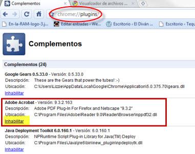 Como ver documentos y archivos PDF en Google Chrome - complemento-adobe