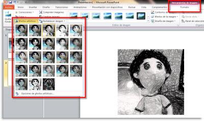 Efectos artisiticos a imagenes en Office 2010 - efecto-artistico-imagenes