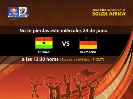 ghana alemania en vivo mundial Ghana vs Alemania en vivo