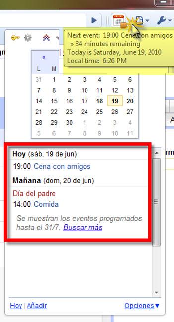 Como Integrar Google Calendar en Chrome - googe-calendar