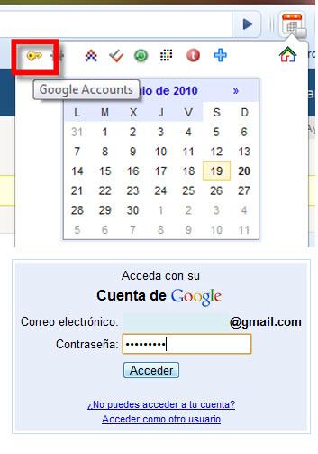 Como Integrar Google Calendar en Chrome - google-accounts