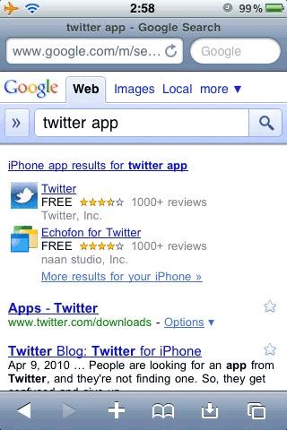 Aplicaciones de iPhone y Android agregadas en Google - google-busquedas-destacadas