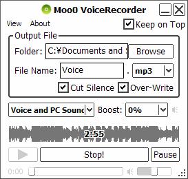 Grabar voz con Moo0 VoiceRecorder - grabar-voz