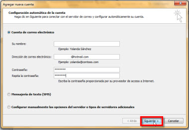 ingresar hotmail outlook Agregar tu cuenta de Hotmail en Outlook 2010