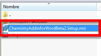 Crear ecuaciones químicas en Word 2010 - instalar-chemistry-add-in