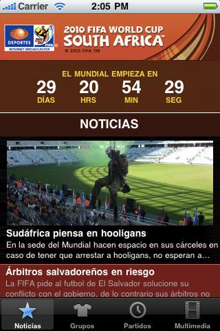 mundial 2010 televisa deportes Mundial 2010 en iPhone