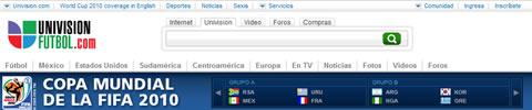 Mundial en vivo UnivisionFutbol.com - mundial-por-internet-univision