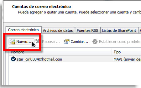 nuevo correo outlook Agregar Gmail a Outlook 2010 usando IMAP