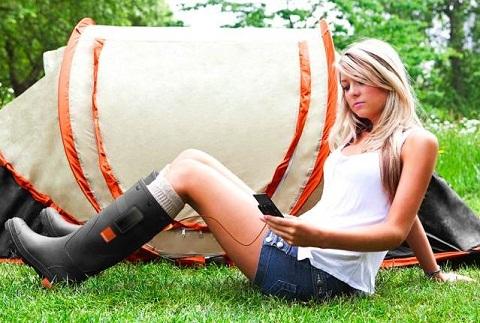 orange botas cargadoras Botas cargadoras de pilas