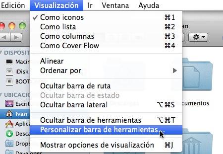 personalizar barra herramientas mac 2 Como personalizar las Barras de Herramientas de Mac