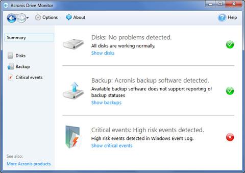 Monitorear discos duros con Acronis Drive Monitor - revisar-discos-duros