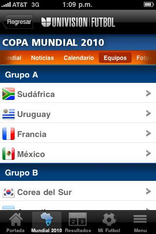 Mundial 2010 en iPhone - univision-copa-mundial-futbol