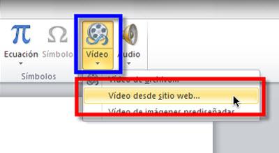 Insertar videos de Youtube en Power Point 2010 - video-desde-web