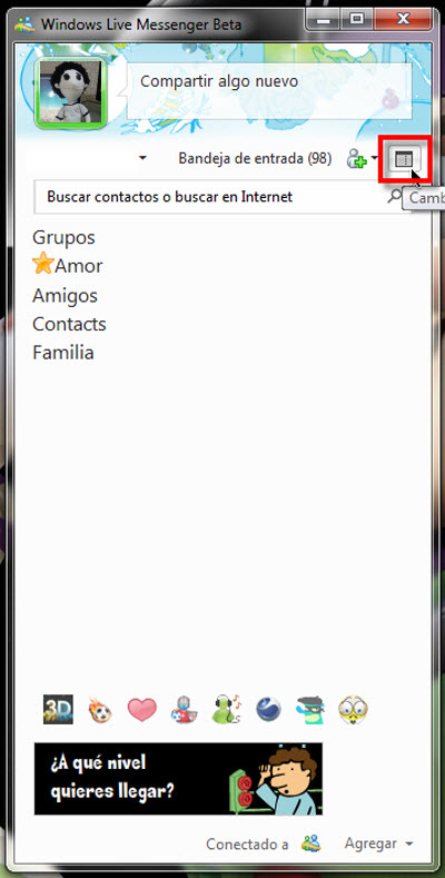 Windows Live Messenger Beta - vista-clasica-windows-live-messenger