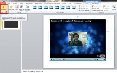 Insertar videos de Youtube en Power Point 2010 - vista-previa-video