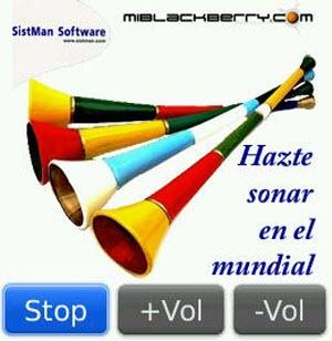 vuvuzela sudafrica 2010 Vuvuzela en tu BlackBerry