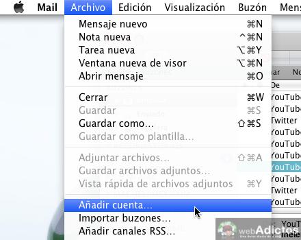 Como agregar cuentas de correo a mail de mac 2 Como agregar cuenta de correo a Mail de Mac