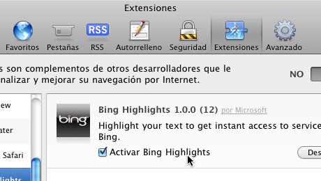Extensión Bing Highlights para Safari - Extension-Bing-Highlights-para-safari_2