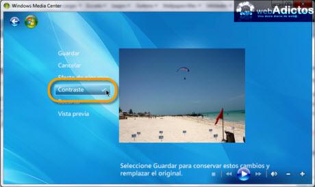 Editar imagenes en Windows Media Center - cambiar-contraste-imagenes