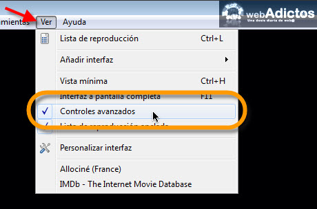 controles avanzados vlc Copiar un DVD con VLC