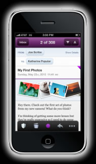 Nueva versión de correo yahoo para iPhone en HTML5 - correo-yahoo-iphone