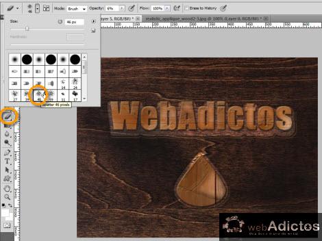 Crear grabado de madera en Photoshop - eraser-tool-photoshop