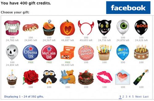 Los regalos virtuales de Facebook han llegado a su fin - facebook_gift