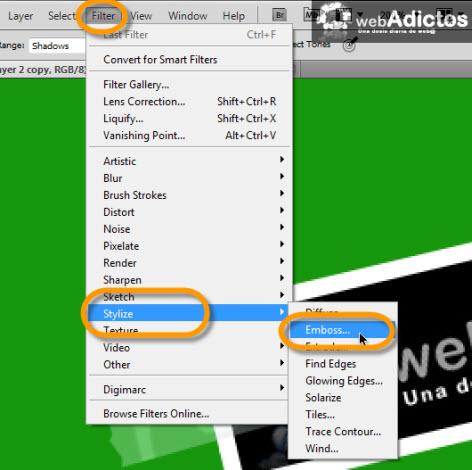 Crear una cinta adhesiva en Photoshop - filter-layer-photoshop