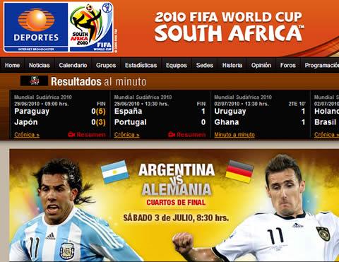 Televisa reporta récord en sus transmisiones del mundial por internet - final-mundial-internet