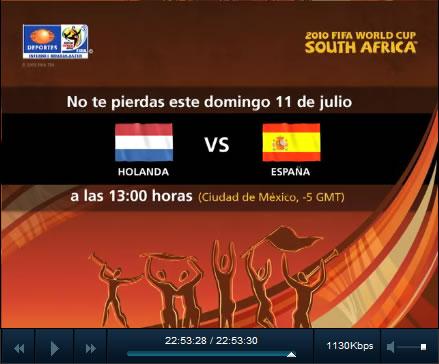 final mundial online España vs Holanda en vivo, Final del mundial