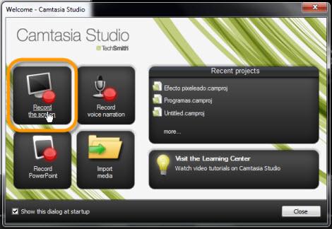 grabar pantalla Graba tu escritorio con Camtasia Studio