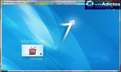 Ver videos de YouTube en Windows Media Center - macrotube-windows-media-center
