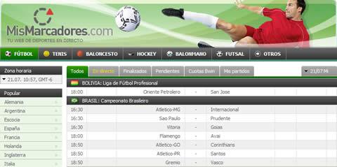 Resultados de futbol, mismarcadores.com - mismarcadores