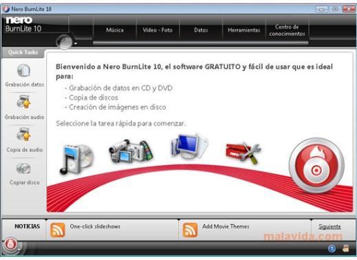 Grabar CDs y DVDs con Nero BurnLite 10 - nero-lite-6926-1