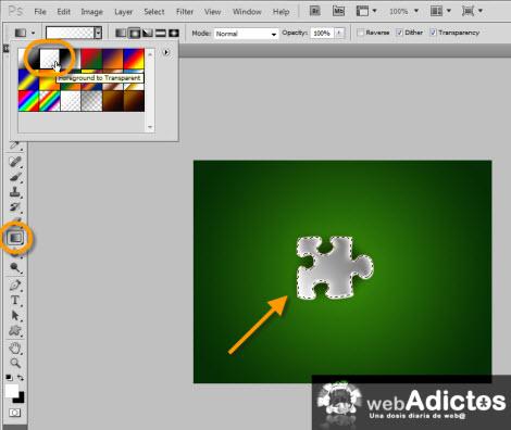 Agregar efecto de cristal a objetos en Photoshop - nuevo-gradiente-photoshop