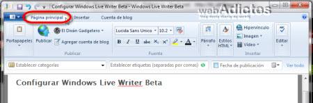 Configurar Windows Live Writer Beta - pagina-principal-windows-live-writer2