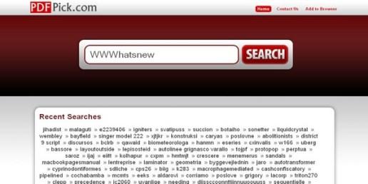 Buscar archivos PDF con PDFPick - pdfpick