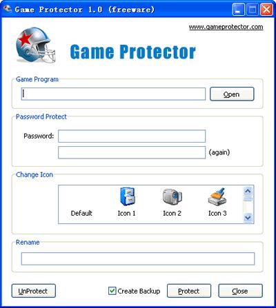 Poner contraseña a juegos, Game Protector - poner-password-programas