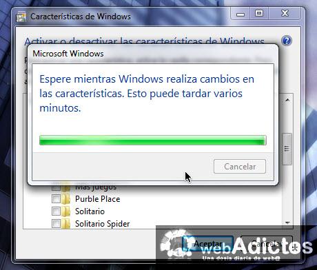 realizar cambios windows 7 Desactivar juegos en Windows 7