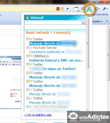 Checar correo hotmail desde Google Chrome - revisar-hotmail