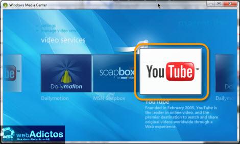 Ver videos de YouTube en Windows Media Center - youtube-windows-media-center