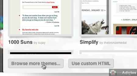 Cambiar tema blog tumblr 3 Cambiar el tema de tu blog tumblr