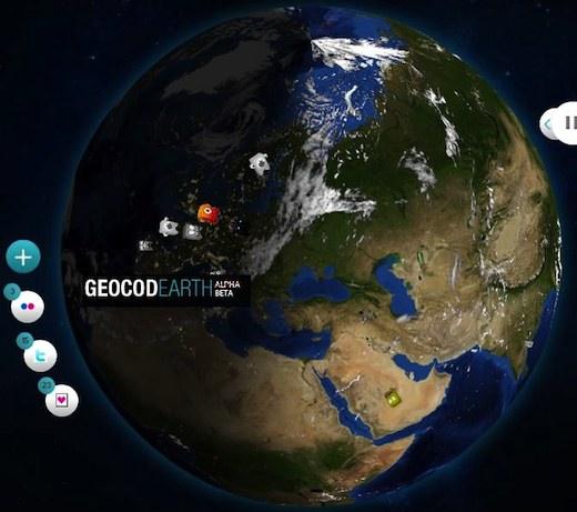 GeocoEarth GeocoEarth, otra manera de visualizar los tweets