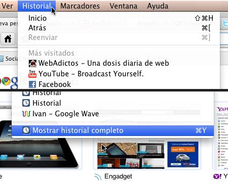 History Button historial chrome 2 Accede a tu historial rapidamente en Google Chrome