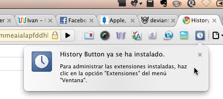 History Button historial chrome 4 Accede a tu historial rapidamente en Google Chrome