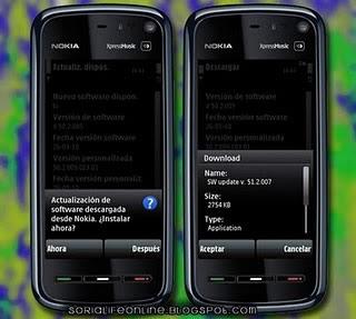Actualización para Nokia 5800, Firmware 51.2.007 - actualizacion-nokia-5800
