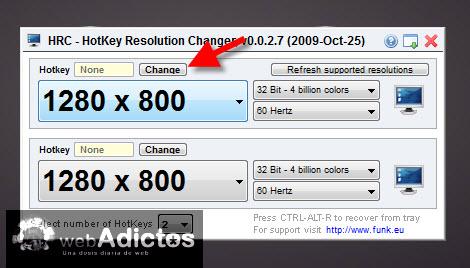 agregar atajo cambiar resolucion1 Cambiar la resolución de la pantalla con un atajo