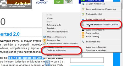 Añadir un evento en Windows Live Calendar en IE8 - agregar-fecha-windows-live-calendar